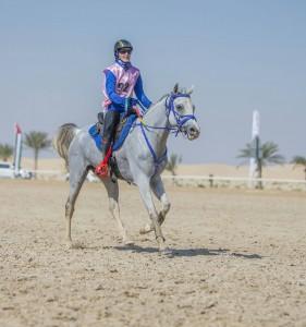 Linda på silverplats i Förenade Arabemiraten