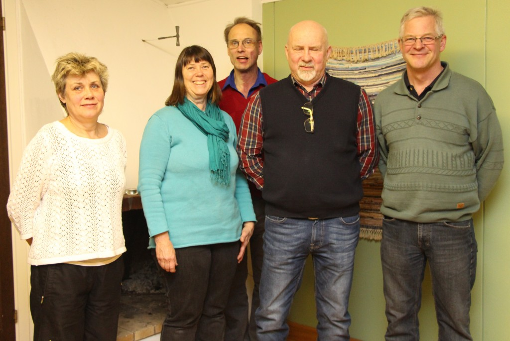 Styrelsen för Vi i Bråttensby Eva Bayard, Ingrid Johansson, Sune Johansson, Christer Håkansson och Börje Aronsson. Tore Aronsson saknas på bilden.