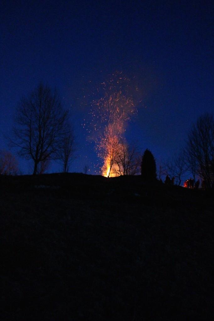 Elden var vacker att se även på lite avstånd. Kjell