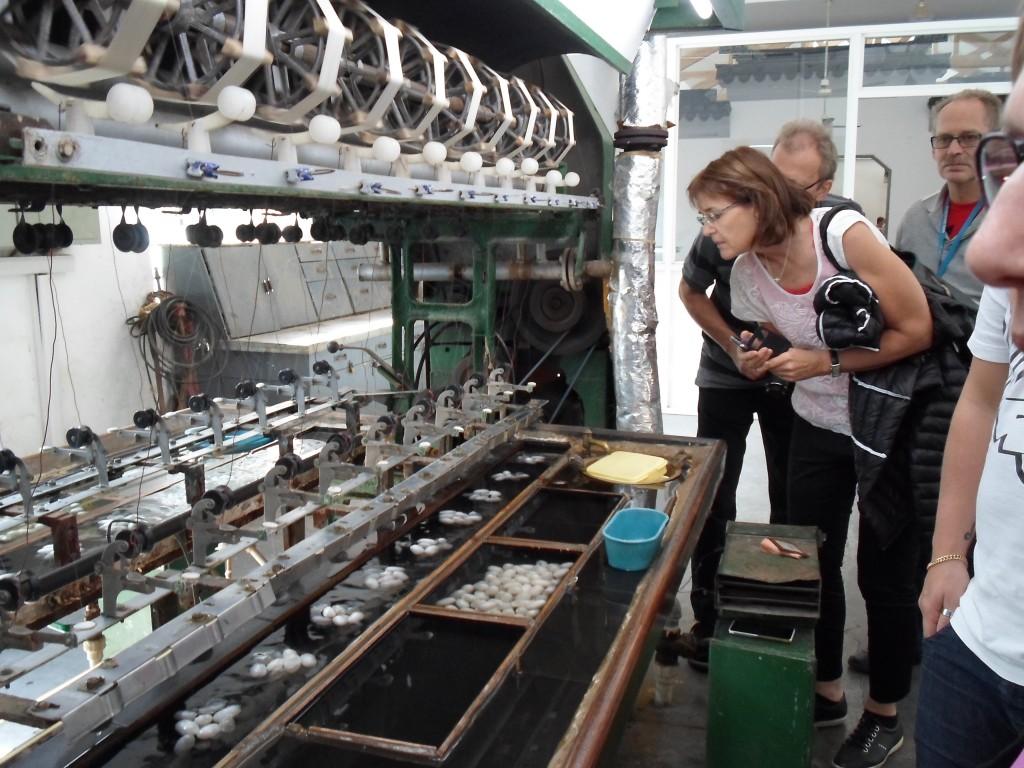 Vi fick se många andra bilder från städer silkesmaskar etc.