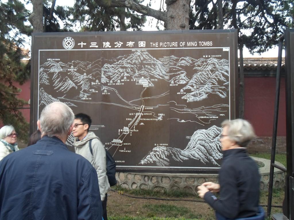 Resan gick även till Mingdynastins gravar ett 500tunland stort område som bestod av ett antal kullar som då är gravar finns cirka 15 till 20st.