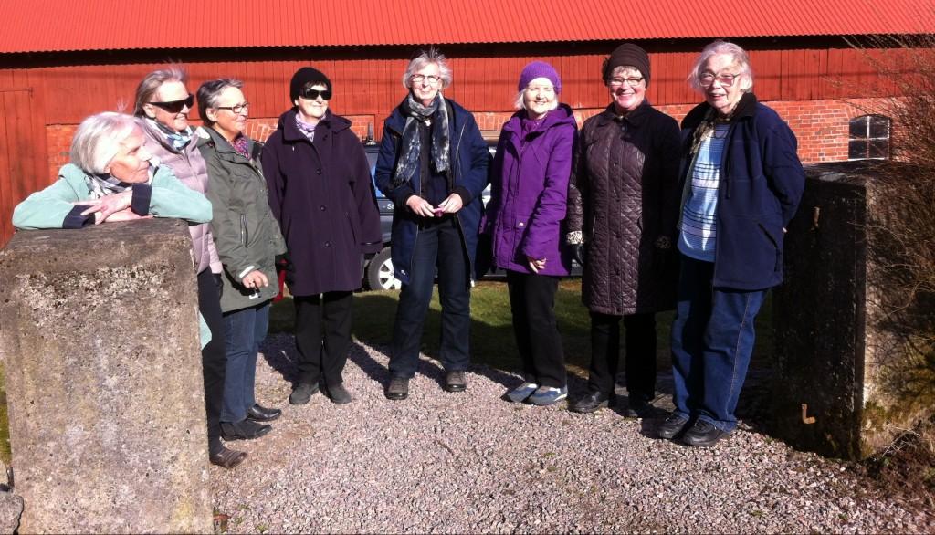 Agneta, Gull-Britt, Irma, Margareta K, Birgitta, Bodil, Ingalill tillsammans med Berna