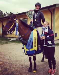 Linda vann Young Rider SM i helgen